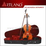 Premier bois d'ébène de vente ajustant le violon d'élève en bois solide (GV104H)