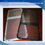 Folha de metal perfurada como tela de mecânica