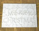MDF van de sublimatie Puzzel (Vrolijke Kerstmis)