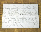 Sublimation MDF Jigsaw Puzzle (Joyeux Noël)
