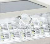 Luz ao ar livre clara da parede do diodo emissor de luz do interior solar portátil com sensor de movimento
