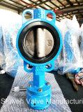 Válvula de borboleta do assento do ferro de molde Pn16 EPDM com engrenagem