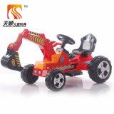 Stile dell'escavatore sul motociclo elettrico del bambino di disegno