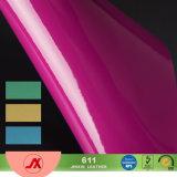 Kleurrijk pvc schittert Leer het Leer van pvc voor van de Zak van het Ontwerp Solft Handfeeling en Shinning