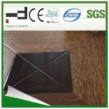 600*600*12mmの浮き出しの表面の寄木細工の床のHDFによって薄板にされるフロアーリング