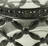 500-2000ml de decoratieve Kruik van het Glas met het Deksel van het Metaal