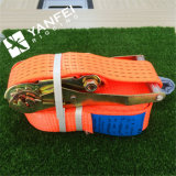 100% Polyester Orange Cargo Lashing Strap