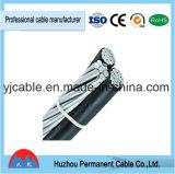 Caída del servicio de conductor de aluminio 1000V/PE techo aislante XLPE Cable ABC