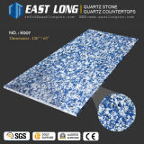 Pedra de mármore azul personalizada de quartzo de Aartificial da cor