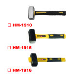 Germany Type Stoning Hammer with TPR Plastic Handle