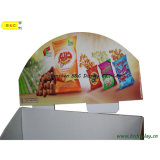 Supermarkten Paper Display voor Chips, Cardboard Display Stand met SGS (b&c-A003)
