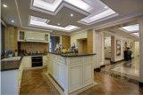 Настраиваемые белой деревянной кухонной мебели Yb1706033 шкафа электроавтоматики