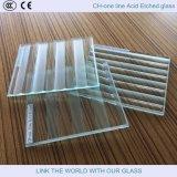 La porte en verre de Glass&Tempered gâchée par guichet avec de l'acide a repéré la glace