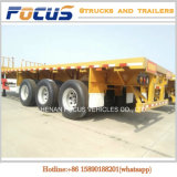 20FT Aanhangwagen van de Vrachtwagen van de Container 40-60ton 40FT- Flatbed Semi