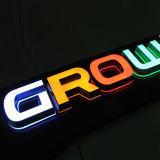 El acrílico cortado laser caliente de la venta pone letras al laser claro de las luces del cristal del LED que corta cartas de acrílico