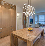 Europe du Nord Ensemble d'assemblage en bambou Lampe suspendue pour salle à manger