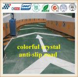 着色された水晶総計が付いている水晶スリップ防止道のフロアーリングを着色しなさい