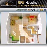 Unidade modular pré-fabricada contínua recentemente projetada da casa do baixo custo