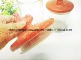 Choc en verre d'entreposage en choc/nourriture de mémoire de vente chaude/vaisselle/conteneur en verre utilisé dans la cuisine