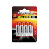 bateria alcalina Non-Rechargeable da pilha seca de 9V Digitas para o alarme de fumo (6LR61)