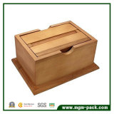 Memoria di lusso su ordine del regalo che impacca casella di legno