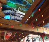 Свет рождества светильника свечки E12 E17 Multicolor туманнейший