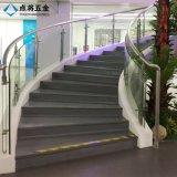 Barandilla de cristal modificada para requisitos particulares del acero inoxidable del diseño del precio competitivo para la escalera