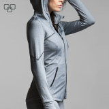 El múltiplo unisex clasifica las chaquetas de la ropa de deportes de la escritura de la etiqueta privada