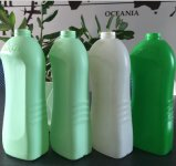 Doppelter Station-Fabrik-Preis Plastik-HDPE Strangpresßling-durchbrennenmaschine für 1L 2L Flasche