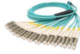 単一モードマルチモードMTP/MPOのケーブル・アセンブリ8f、12fの24fファイバーのパッチ・コードケーブル