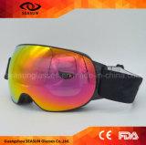 Lunettes de Glace-Patinage de neige de logo de constructeur de ski de courroie de l'hiver fait sur commande de lunettes