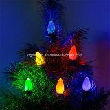 Новинка лампа пластиковый открытый строку C9 Рождество замена ламп