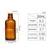 5ml 10ml 15ml 20ml 30ml 50ml 100 ml de aceite esencial de vidrio ámbar gotero frasco de perfume Oro/Plata/Negro pipetas de vidrio cubierta