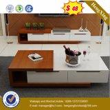 ガラス上の木のコーヒーテーブルの現代居間の家具(UL-MFC0662)