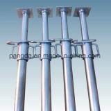 Soporte de acero ajustable galvanizado, apoyo de acero ajustable resistente para la construcción