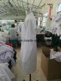 Couche de laboratoire pour le coton 100% de qualité d'hôpital 230GSM