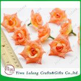 China Proveedor Seda artificial decorativa de los jefes de la flor rosa Home