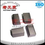 Vieil artisan marqué garnitures intérieures brasées de carbure cimenté