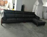 Новые поступления в форме буквы L кожаный диван мебель (A70)