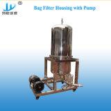 SS304 / 316 L'eau de purification Sac parallèle recto verso du boîtier de filtre