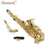 Instrumento de Woodwind del precio del saxofón del alto de la laca del oro del Eb