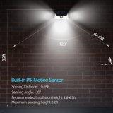 Lâmpada de parede solar impermeável 34LED do sensor de movimento do corpo