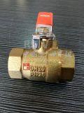 Porta completa/Bore rosca fêmea de Bronze latão 2PC a Válvula de Esfera