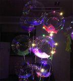 18 بوصة [3م] خيط [لد] [بوبو] منطاد أضواء لأنّ عيد ميلاد عرس [كريستمس برتي] زخرفيّة, [فيلّبل] مع هليوم