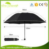 Paraguas plegable del paraguas del manual de la lluvia abierta promocional de encargo del samurai