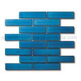 32.5x145mm cristal brillant bleu foncé de la brique Mosaïque en porcelaine émaillée