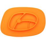 Plaque heureuse de Platemat de bébé d'aspirations de Tableau de cuvette de silicones de qualité