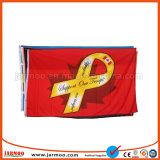 Cheap polyester imprimé drapeau personnalisé sur la vente