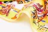新しいデザイン花の印刷された絹ポリエステルロゴのスカーフ