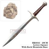 Decoração medieval 20cm da tabela das espadas das espadas do cavaleiro do abridor de letra da espada da picada de Hobbit